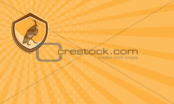 Business card Turkey Walking Shield Retro
