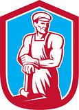 Foundry Worker Blacksmith Hammer Retro