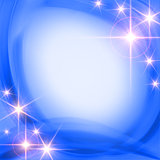 shining stars over blue background
