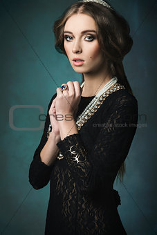 aristocratic antique woman