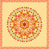 Ethnic round ornamental pattern