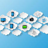 Abstract background.  Cloud storage concept