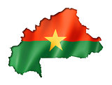 Burkina Faso flag map