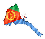 Eritrean flag map