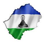 Lesotho flag map