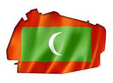 Maldives flag map