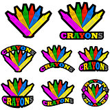 Crayons icons