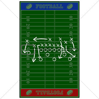 Football field gameplan