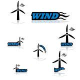 Wind turbine icons