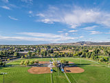 baseball fields aerail view