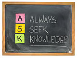 always seek knowledge - ASK