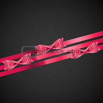 Abstract Background with Red Gift Ribbon . Vector illustration