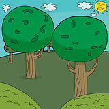 Cartoon Trees Background