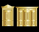 Golden Vault Door. Vector Illustration art cute