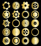 set of gear wheels vector illustration cut