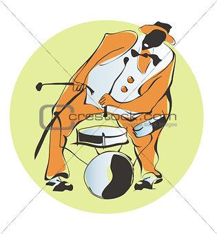 Afro-American jazz-man