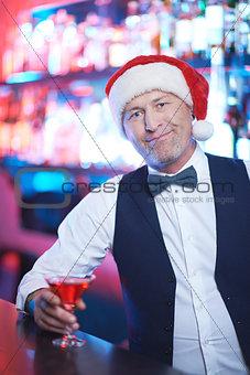 Santa in bar