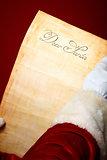Letter in Santa hands