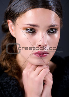Crying young woman