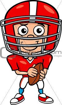 boy football player cartoon illustration