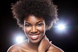 Beautiful African woman with afro hairstyle