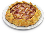 homemade bacon lattice pie