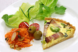 homemade quiche