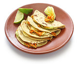 squash blossom quesadillas, Mexican food