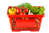 fruits and vegetables in your shopping cart