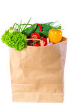 paper bag full of wholesome food