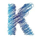 sketched letter K