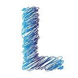 sketched letter L