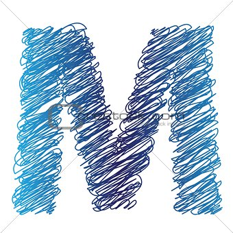 sketched letter M