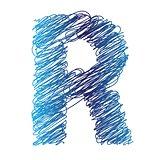 sketched letter R