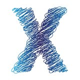 sketched letter X