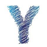 sketched letter Y