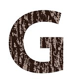letter G made from oak bark
