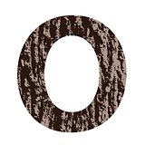 letter O made from oak bark