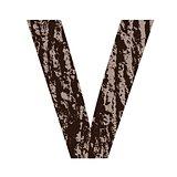 letter V made from oak bark