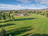 baseball fields aerail view