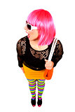 fashion woman in bright outfit