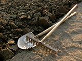 rake and spade