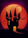 Halloween Castle grunge background
