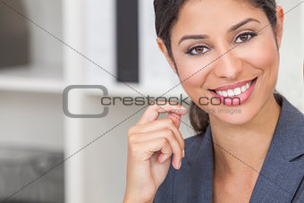 Beautiful Latina Hispanic Woman or Businesswoman