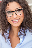 Mixed Race Latina Woman Girl Wearing Glasses