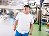 overweight asian young man
