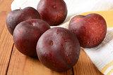 Ripe organic plums