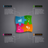 Info graphic puzzle design template