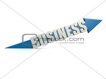 Blue business arrow