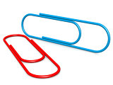 Blue red paper clip